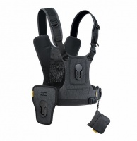 Cotton Carrier CCS G3 Harness for 2 cameras Grey